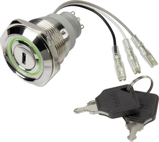 Schlüsselschalter 250 V/AC 5 A 1 x Aus/Ein TRU COMPONENTS LAS1-AGQ30-11Y/21/R-G/12V 1 St.