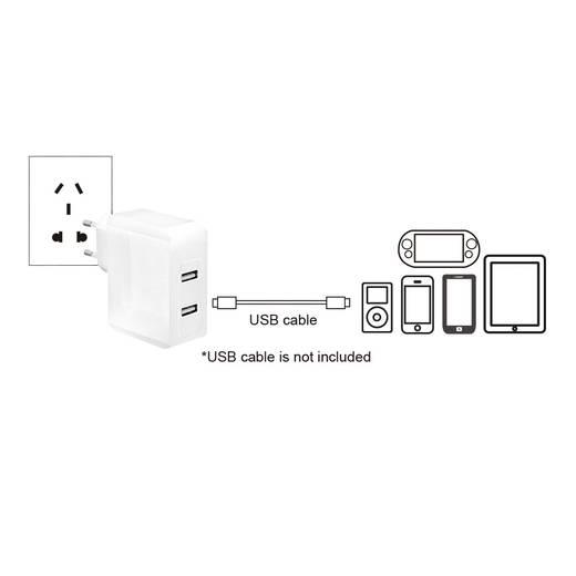 USB-Ladegerät LogiLink PA0094 PA0094 Steckdose Ausgangsstrom (max.) 3400 mA 2 x USB
