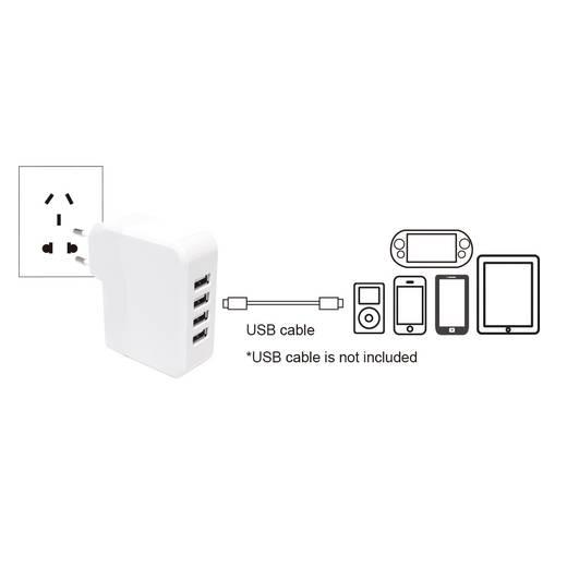 USB-Ladegerät LogiLink PA0096 PA0096 Steckdose Ausgangsstrom (max.) 4900 mA 4 x USB