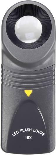 Handlupe mit LED-Beleuchtung Vergrößerungsfaktor: 15 x Linsengröße: (Ø) 20 mm TOOLCRAFT
