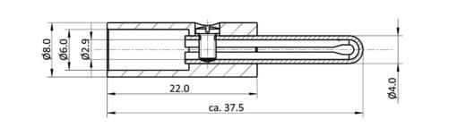 Bananenstecker Stecker, gerade Stift-Ø: 4 mm Schwarz econ connect BAS4SW 1 St.