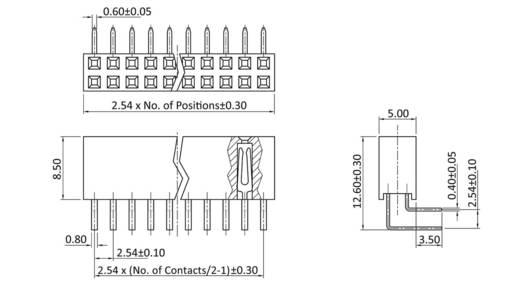 Buchsenleiste (Standard) Anzahl Reihen: 2 Polzahl je Reihe: 12 econ connect BL12/2G8 1 St.