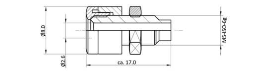 Laborbuchse Buchse, Einbau vertikal Stift-Ø: 2.6 mm Weiß econ connect HOBWS 1 St.