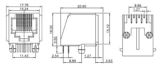 Modular Einbaubuchse Buchse, Einbau vertikal MEB8/8PST Schwarz econ connect MEB8/8PST 1 St.