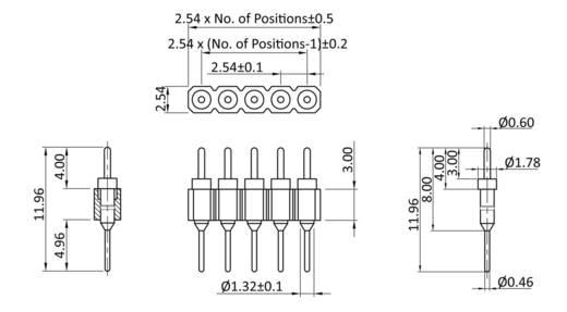 Stiftleiste (Präzision) Anzahl Reihen: 1 Polzahl je Reihe: 20 econ connect PAKSN20G2 1 St.