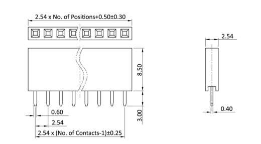 Buchsenleiste (Standard) Anzahl Reihen: 1 Polzahl je Reihe: 40 econ connect BL40/1G8 1 St.