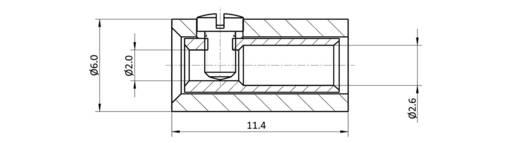 Laborbuchse Buchse, Einbau vertikal Stift-Ø: 2.6 mm Blau econ connect HOKBL 1 St.