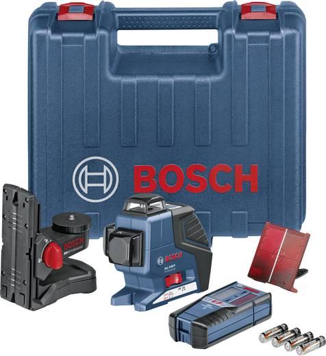 Linienlaser selbstnivellierend Bosch Professional GLL 3-80 P+BM1+LR2 Reichweite (max.): 80 m Kalibriert nach: Werksstan