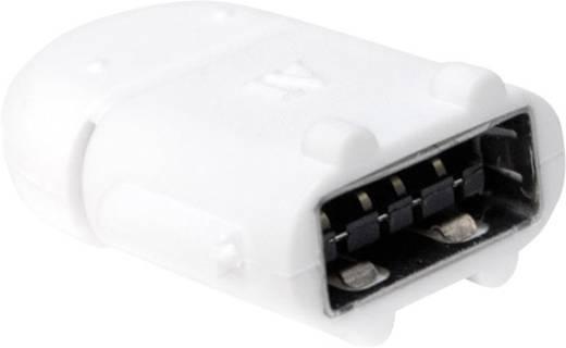 USB 2.0 Adapter [1x USB 2.0 Stecker Micro-B - 1x USB 2.0 Buchse A] Weiß mit OTG-Funktion LogiLink