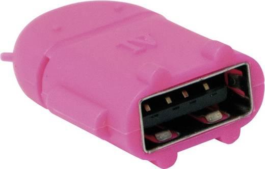 USB 2.0 Adapter [1x USB 2.0 Stecker Micro-B - 1x USB 2.0 Buchse A] Pink mit OTG-Funktion LogiLink