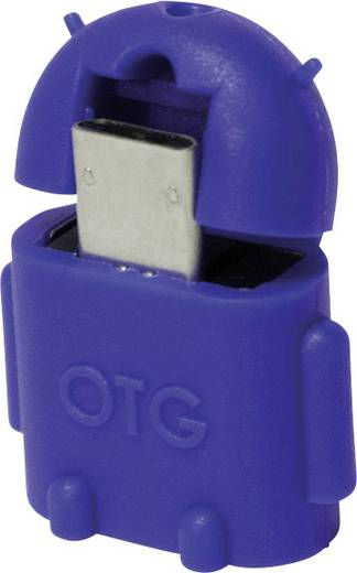 USB 2.0 Adapter [1x USB 2.0 Stecker Micro-B - 1x USB 2.0 Buchse A] Blau mit OTG-Funktion LogiLink
