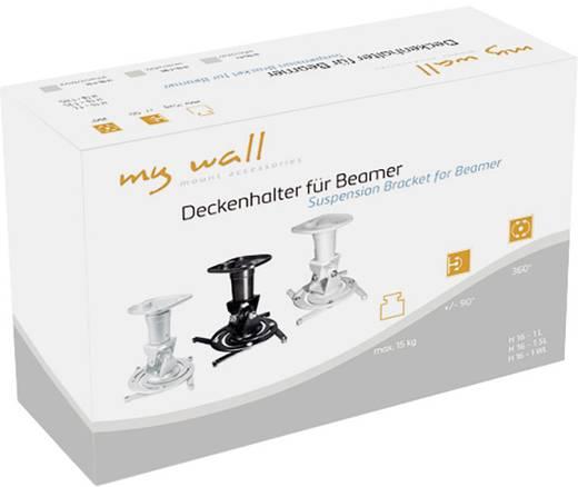 Beamer-Deckenhalterung Drehbar, Neigbar Boden-/Deckenabstand (max.): 22.5 cm My Wall H16-1L Silber