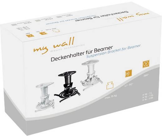 Beamer-Deckenhalterung Neigbar, Drehbar Boden-/Deckenabstand (max.): 22.5 cm My Wall H16-1SL Schwarz