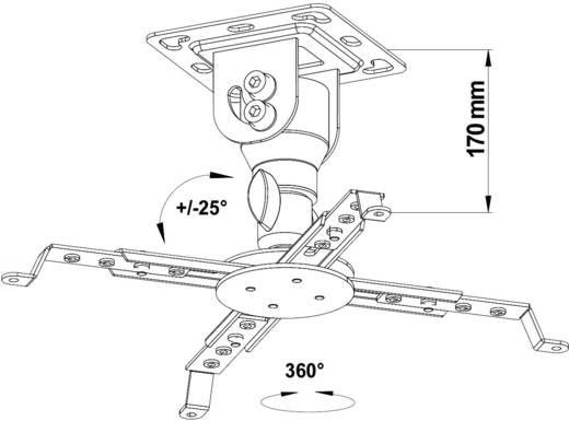 Beamer-Deckenhalterung Neigbar, Drehbar Boden-/Deckenabstand (max.): 17 cm My Wall H16-7WL Weiß