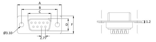 D-SUB Buchsenleiste 180 ° Polzahl: 50 Lötkelch econ connect BU50LK/V 1 St.