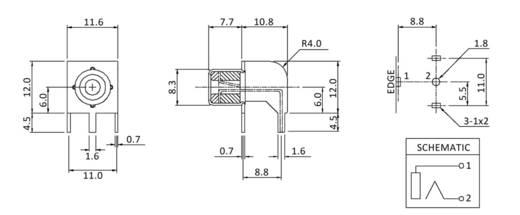 Cinch-Steckverbinder Buchse, Einbau horizontal Weiß econ connect CBP 1 St.