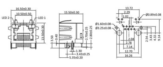 Modular-Einbaubuchse Buchse, Einbau horizontal M8L1G3 Metall econ connect M8L1G3 1 St.