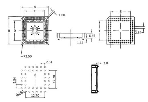 PLCC-Fassung Rastermaß: 2.54 mm Polzahl: 84 econ connect PLCC84 1 St.