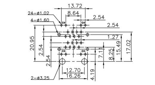 Doppelstock Multiport 2xRJ45 LED Buchse, Einbau horizontal MDFL18811 Metall econ connect MDFL18811 1 St.