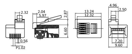 Modular-Einbaubuchse Stecker, gerade MPL6/6DEC Klar econ connect MPL6/6DEC 1 St.