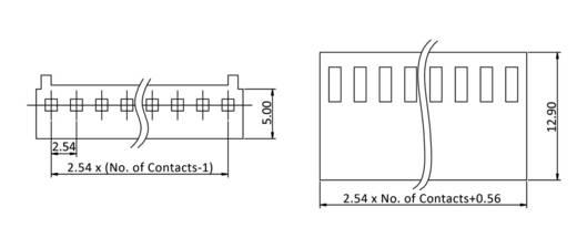 Steckbuchse mit Litze Polzahl Gesamt 2 econ connect PS2 Rastermaß: 2.54 mm 1 St.