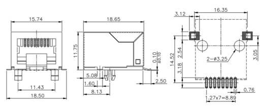 Modular-Einbaubuchse Buchse, Einbau horizontal MEB8/8GSMTKS Metall econ connect MEB8/8GSMTKS 1 St.