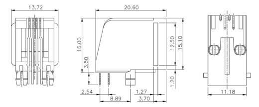 Modular-Einbaubuchse Buchse, Einbau horizontal MEB4/4P Schwarz econ connect MEB4/4P 1 St.