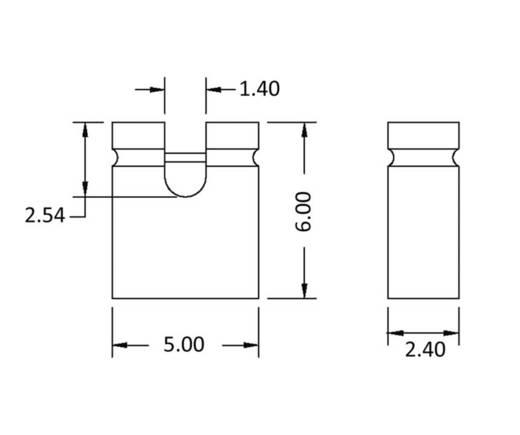 Kurzschlussbrücke Rastermaß: 2.54 mm Polzahl je Reihe:2 econ connect SHBL Inhalt: 1 St.