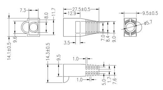 Knickschutz für MPL8/8RG Knickschutztülle SB8RT Rot econ connect SB8RT 1 St.