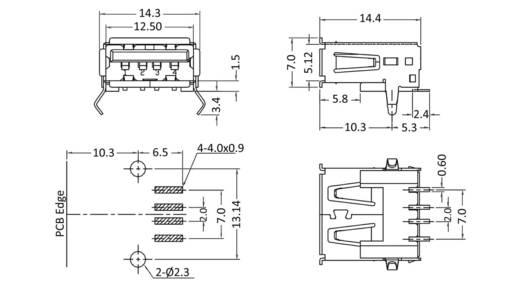 USB-A-Buchse Buchse, Einbau horizontal 1311380 1 Port econ connect Inhalt: 1 St.