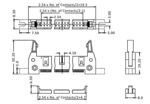Stiftleiste WS10SKVL Gesamtpolzahl 10 Anzahl Reihen 2 econ connect 1 St.