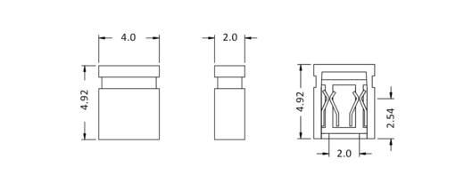 Kurzschlussbrücke Rastermaß: 2 mm Polzahl je Reihe:2 econ connect SHSW/2 Inhalt: 1 St.