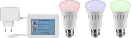 LED E27 Glühlampenform 7.5 W = 40 W RGBW (Ø x L) 62 mm x 113 mm EEK: A+ Sygonix colorchanging, dimmbar, app-gesteuert 3 St.
