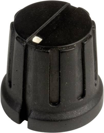 Drehknopf mit Zeiger Schwarz (Ø x H) 15.5 mm x 14.2 mm SCI PN-38D (6.4mm) 1 St.
