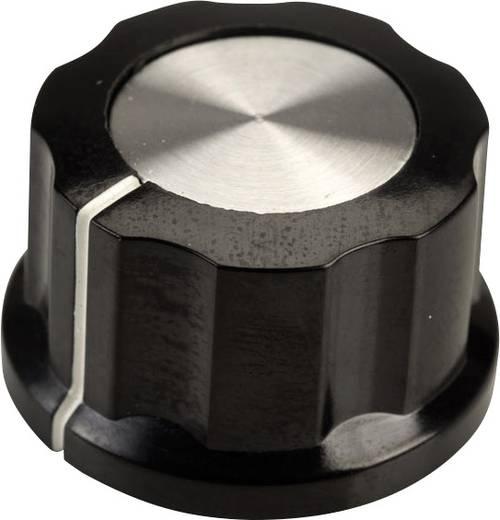 Drehknopf Schwarz, Weiß (Ø x H) 26.8 mm x 15.8 mm SCI RN-99D(6.4mm) 1 St.