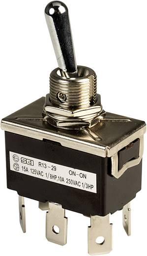 Kippschalter 250 V/AC 10 A 2 x Ein/Ein SCI R13-29B rastend 1 St.
