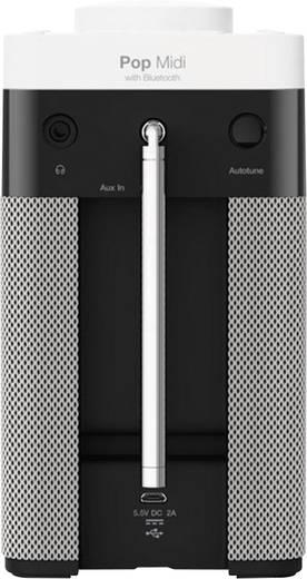 Pure Pop Midi Bluetooth® DAB+ Tischradio Bluetooth®, DAB+, UKW Schwarz, Weiß