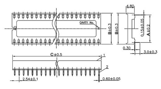 IC-Fassung Rastermaß: 15.24 mm Polzahl: 28 econ connect ICF28 1 St.
