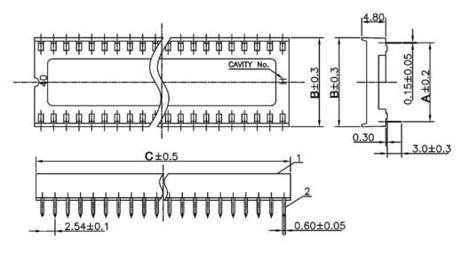 IC-Fassung Rastermaß: 7.62 mm Polzahl: 14 econ connect ICF14 1 St.