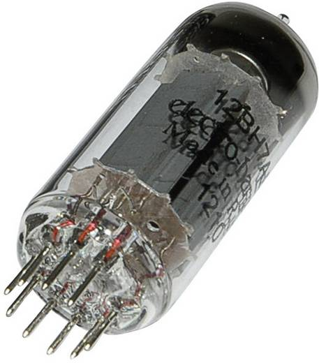 Elektronenröhre 12 BH 7 Doppeltriode 300 V 4 mA Polzahl: 9 Sockel: Noval Inhalt 1 St.