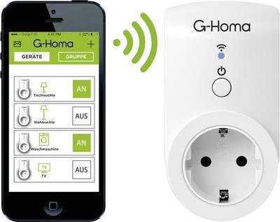G-Homa Smart Socket EMW302WF Wi-Fi Wireless socket Indoors 3680 W