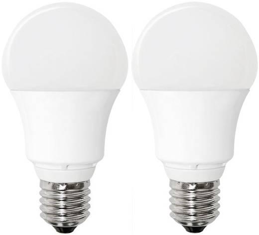 LED E27 Glühlampenform 10 W = 60 W Warmweiß (Ø x L) 60 mm x 110 mm EEK: A+ Müller Licht 2 St.