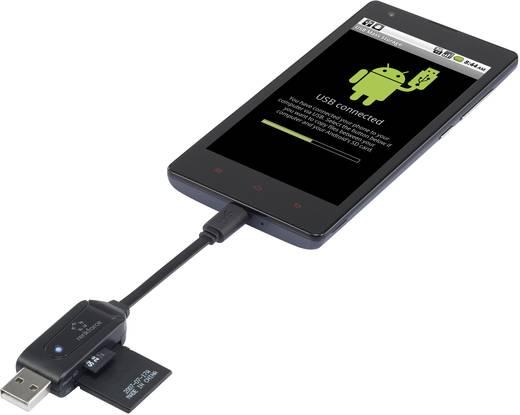 Externer Speicherkartenleser USB 2.0 mit OTG-Funktion Renkforce 1305499 Schwarz