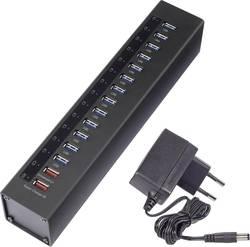 USB hub Renkforce, 13x USB 3.0 + 2x nabíjecí USB