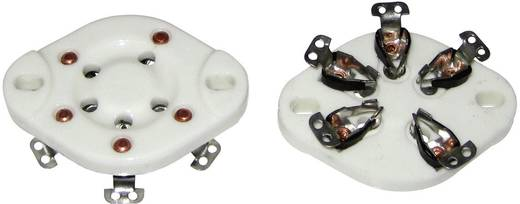 Röhrensockel 1 St. 130579 Polzahl: 5 Sockel: UX-5 Montageart: Chassis Material:Keramik