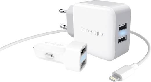 USB-Ladegerät Innergie ADP-N21AW CA ADP-N21AW CA KFZ, Steckdose Ausgangsstrom (max.) 2100 mA 4 x USB Auto-Detect