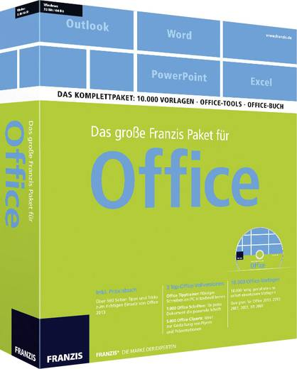 das gro e franzis paket f r office kaufen. Black Bedroom Furniture Sets. Home Design Ideas