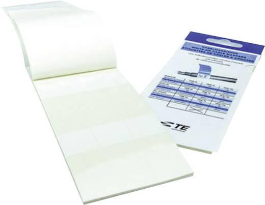 Kabel-Etikett 25 x 15 mm Farbe Beschriftungsfeld: Weiß TE Connectivity 7-1768048-7 TKM50WE-N Anzahl Etiketten: 90