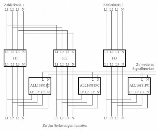 Phasenkoppler Baustein Allnet ALL16881PC Eingangsspannung (Bereich): 400 V/AC (max.)