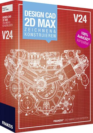 Franzis Verlag DesignCAD V24 2D Zeichnen & Konstruieren Vollversion, 1 Lizenz Windows CAD-Software